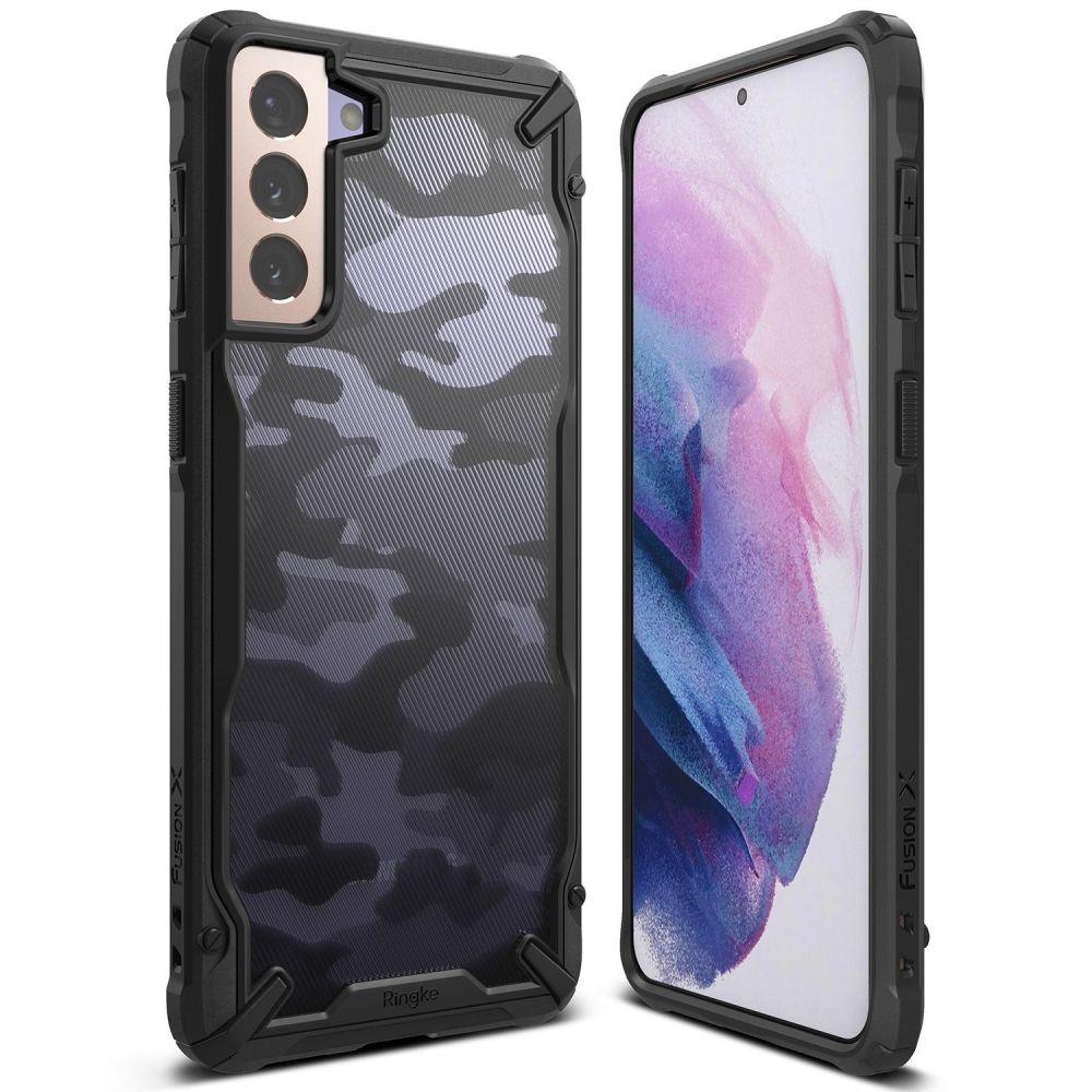 RINGKE Fusion X mobilskal Till Galaxy S21 Camo Svart