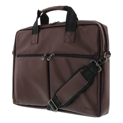 """Laptopväska i Konstläder väska upp till 15.6"""" - Brun"""