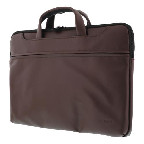 """Notebook Konstläder väska upp till 15.6"""" - Brun"""