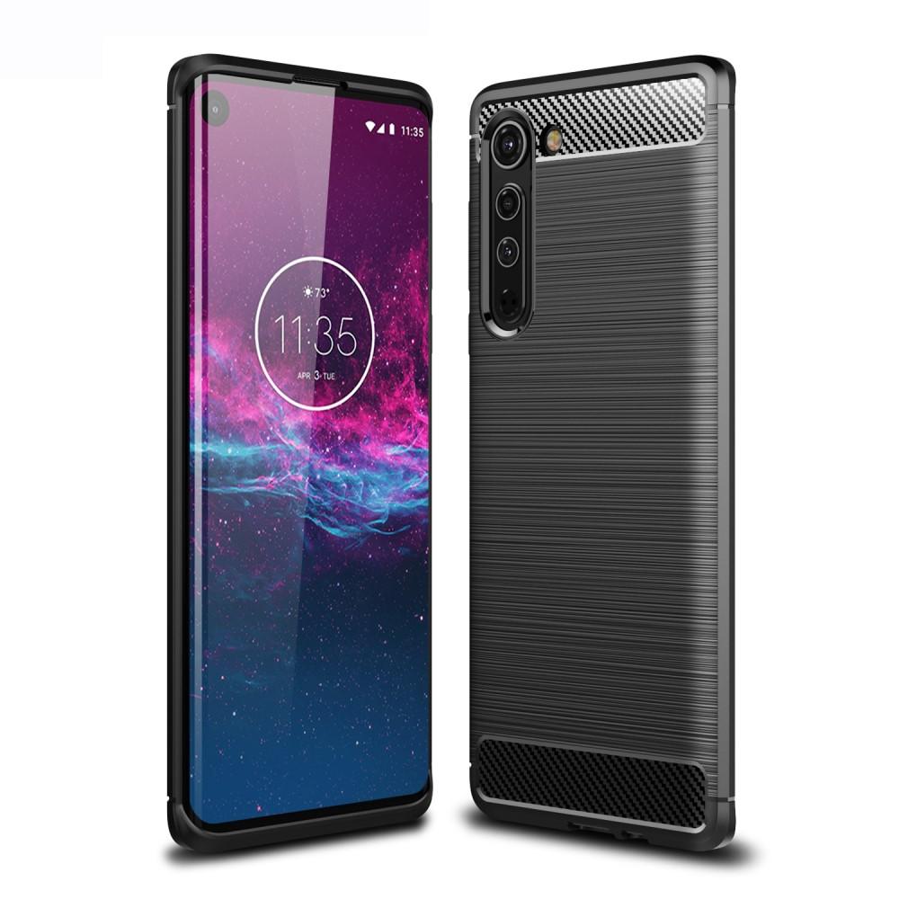 Carbon Fiber Mobilskal Motorola Edge - Svart