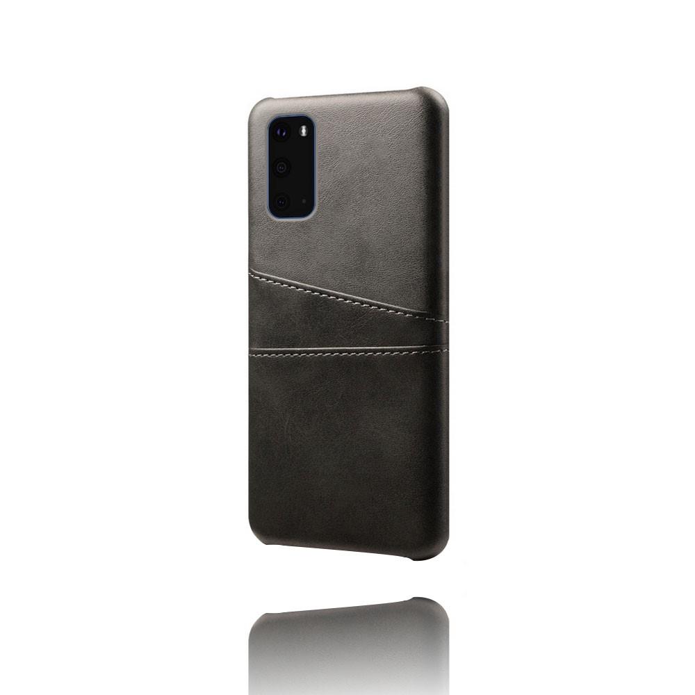 Skal med kortplatser till Samsung Galaxy S20 - Svart