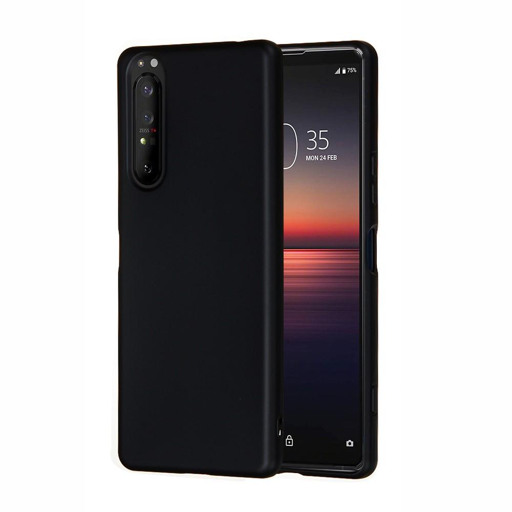 Liquid Silicone Mobilskal Sony Xperia 1 II - Svart