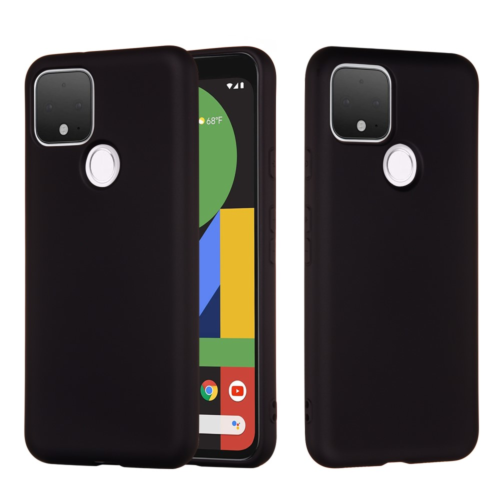 Liquid Silicone Mobilskal Google Pixel 5 - Svart