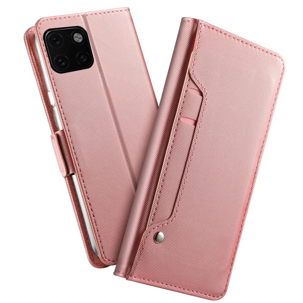 Plånboksfodral med Spegel till iPhone 11 Pro - Rose Gold