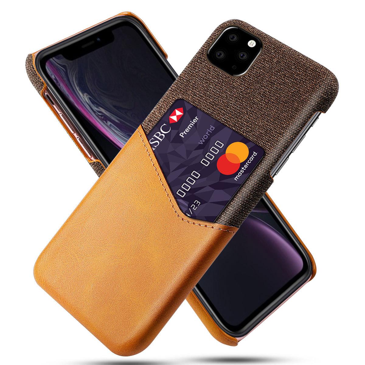 Mobilskal med korthållare till iPhone 11 Pro - Brun