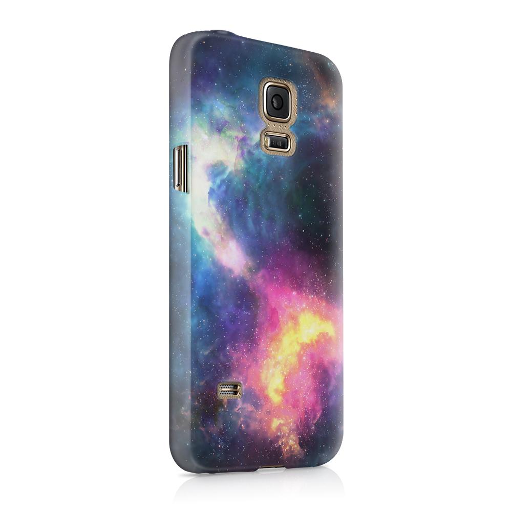 Skal till Samsung Galaxy S5 - Rymden - Svart/Blå