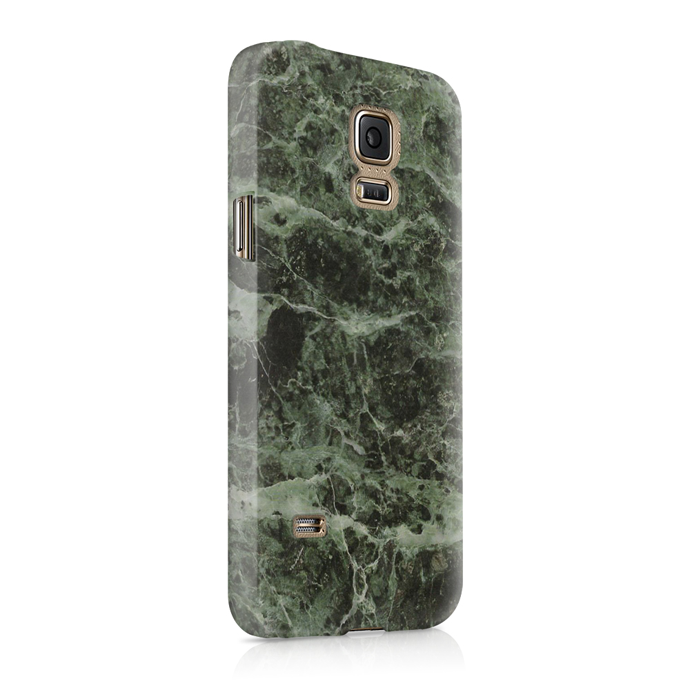 Skal till Samsung Galaxy S5 - Marble - Grön/Svart