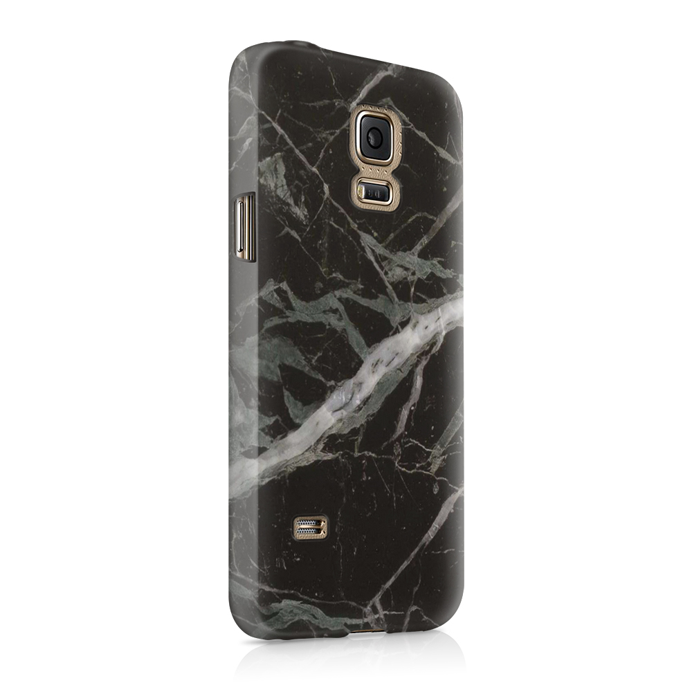 Skal till Samsung Galaxy S5 - Marble - Svart
