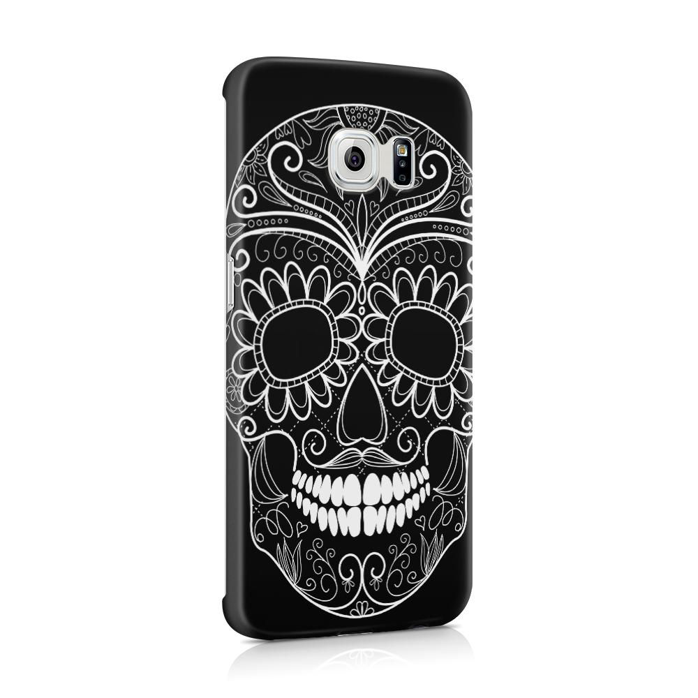 Skal till Samsung Galaxy S6 Edge - Glad dödskalle - Svart