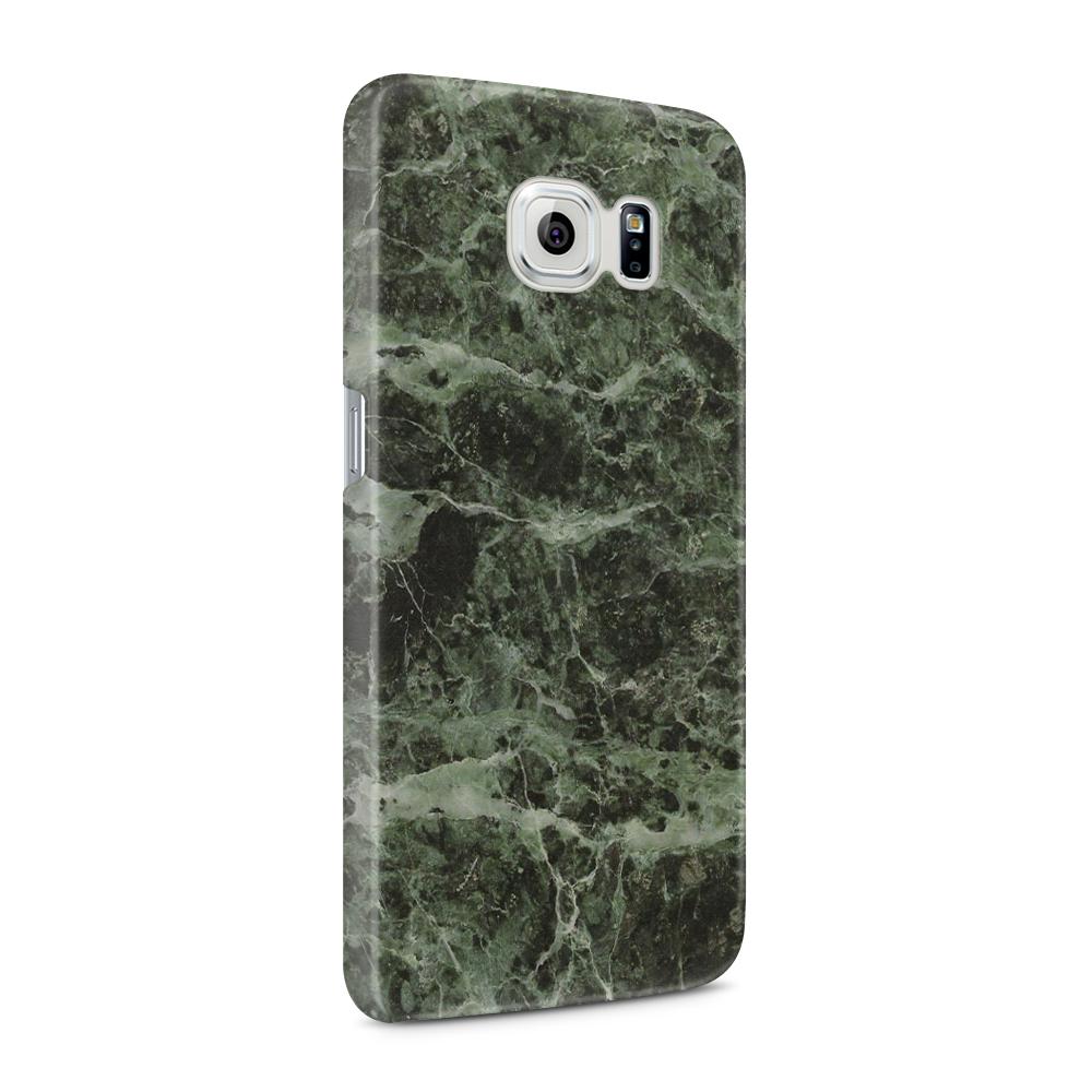 Skal till Samsung Galaxy S6 - Marble - Grön/Svart