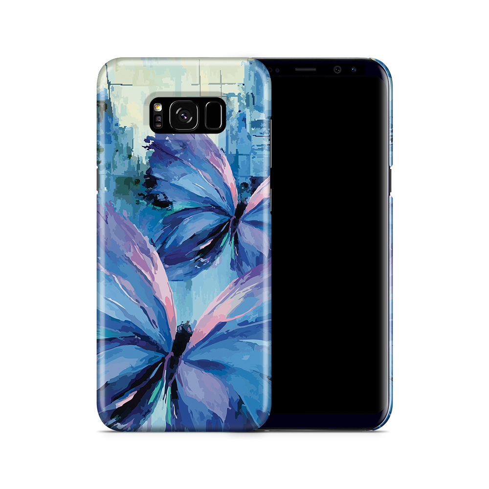 Skal till Samsung Galaxy S8 Plus - Blue Butterflies