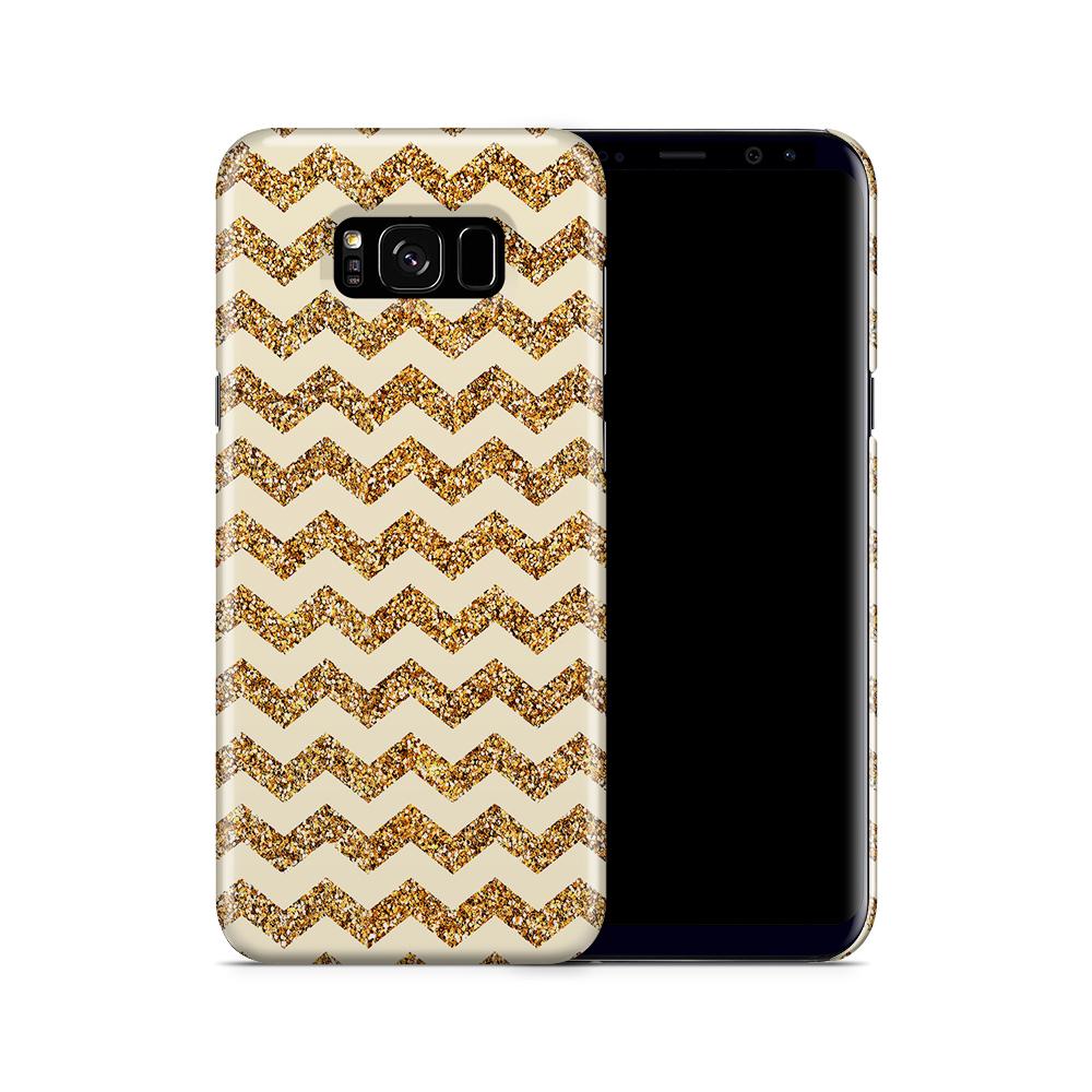 Skal till Samsung Galaxy S8 Plus - Ränder - Guld/Beige