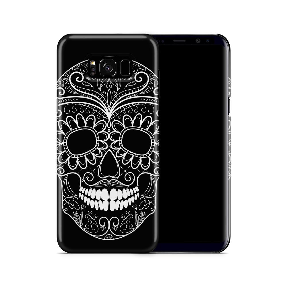 Skal till Samsung Galaxy S8 Plus - Glad dödskalle - Svart