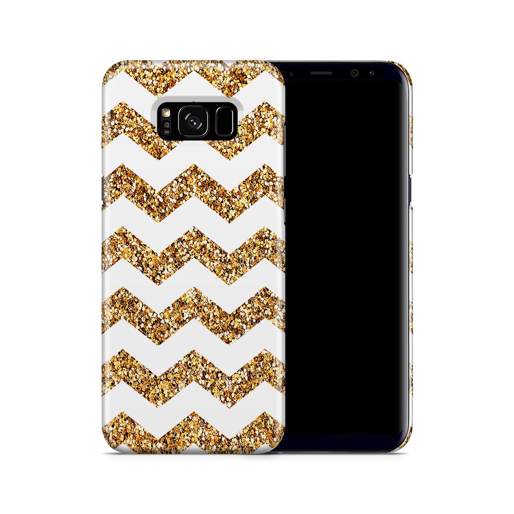 Skal till Samsung Galaxy S8 Plus - Ränder - Vit/Guld