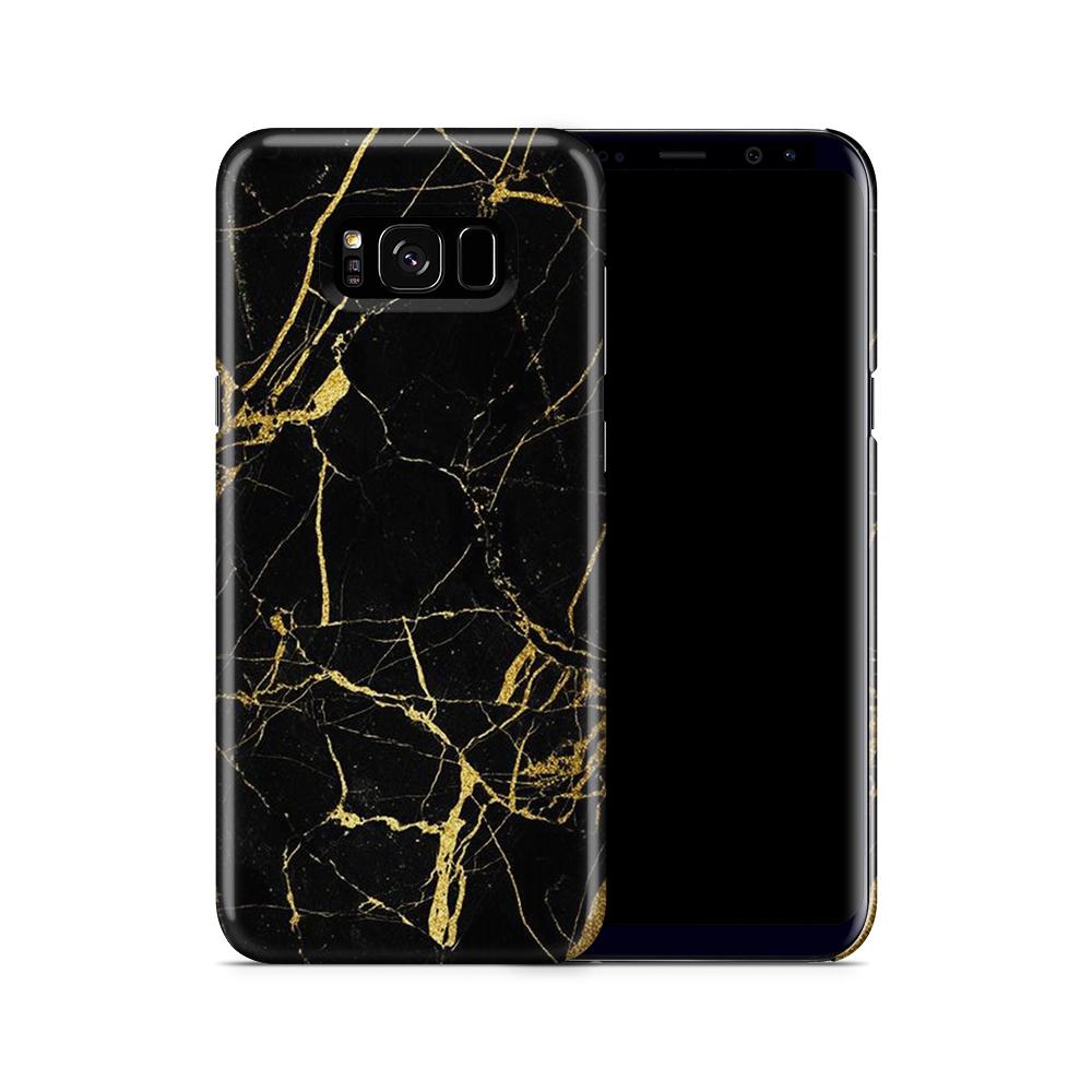Skal till Samsung Galaxy S8 Plus - Marble - Svart
