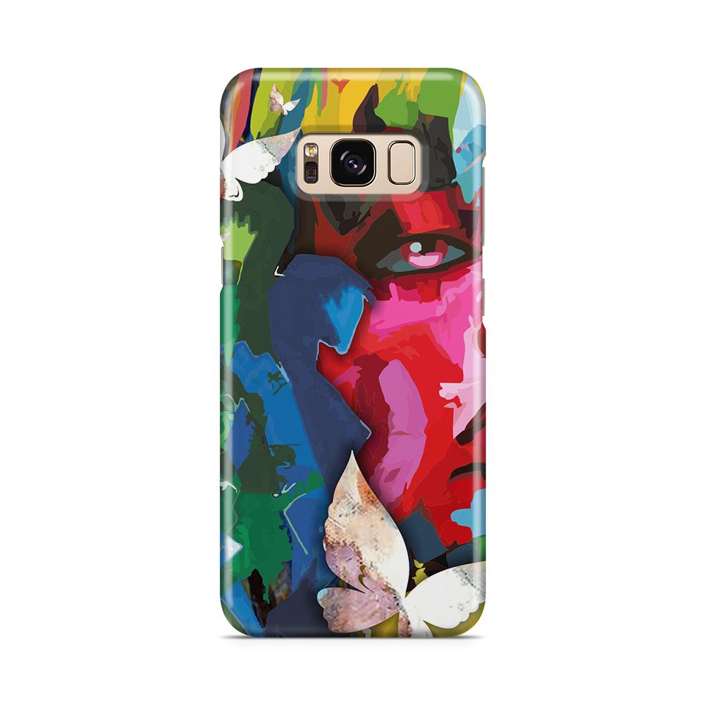 Skal till Samsung Galaxy S8 - Face Butterflies