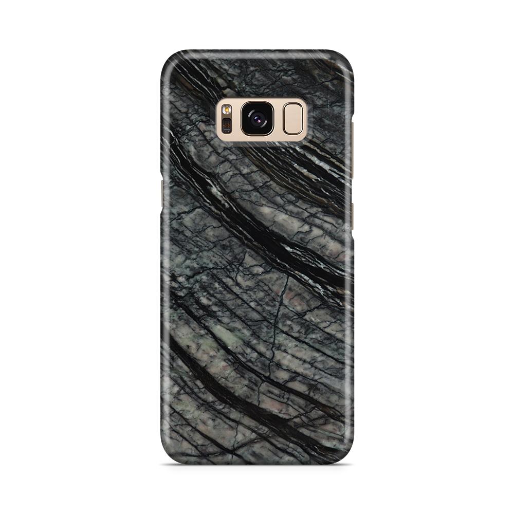 Skal till Samsung Galaxy S8 - Marble - Svart/Grå