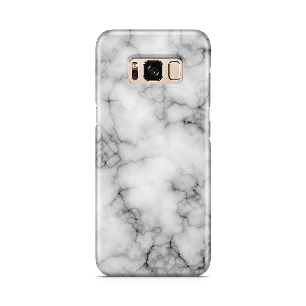 Skal till Samsung Galaxy S8 - Marble - Vit/Svart