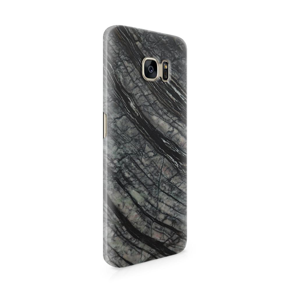 Skal till Samsung Galaxy S7 Edge - Marble - Svart/Grå