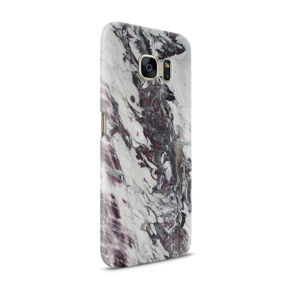 Mobilskal   Galaxy S7   Marble - Vit/Svart