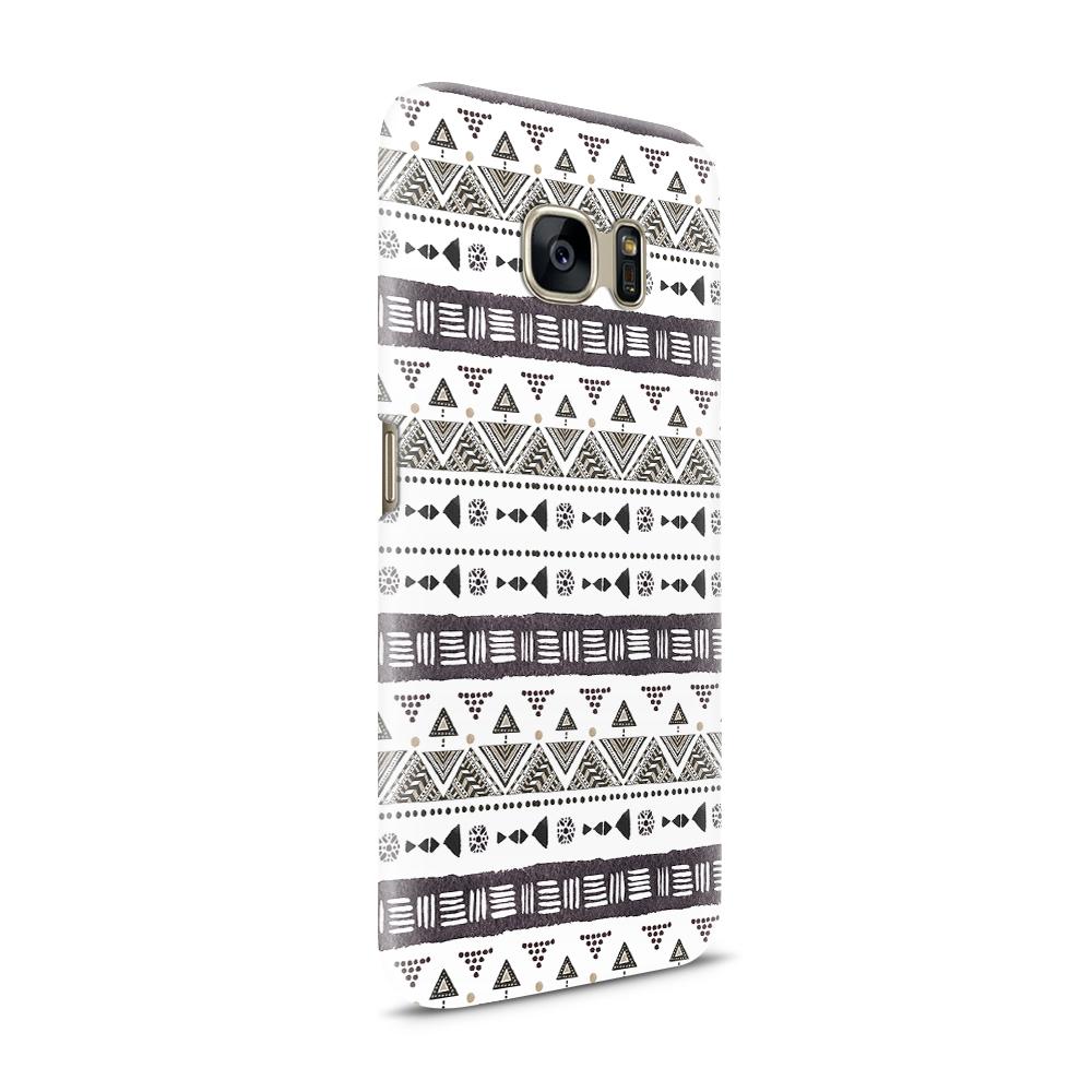 Skal till Samsung Galaxy S7 - Mönster - Svart/Vit