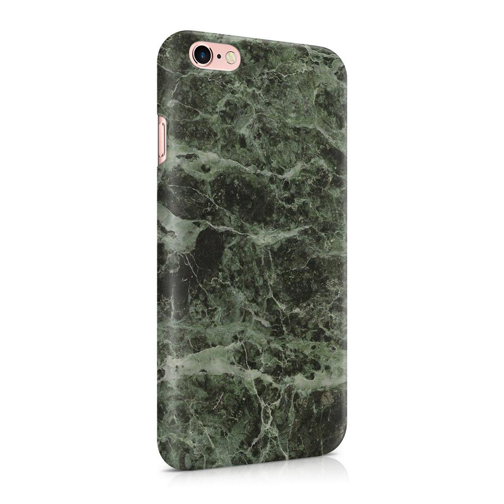 Skal till Apple iPhone 6(S) - Marble - Grön/Svart