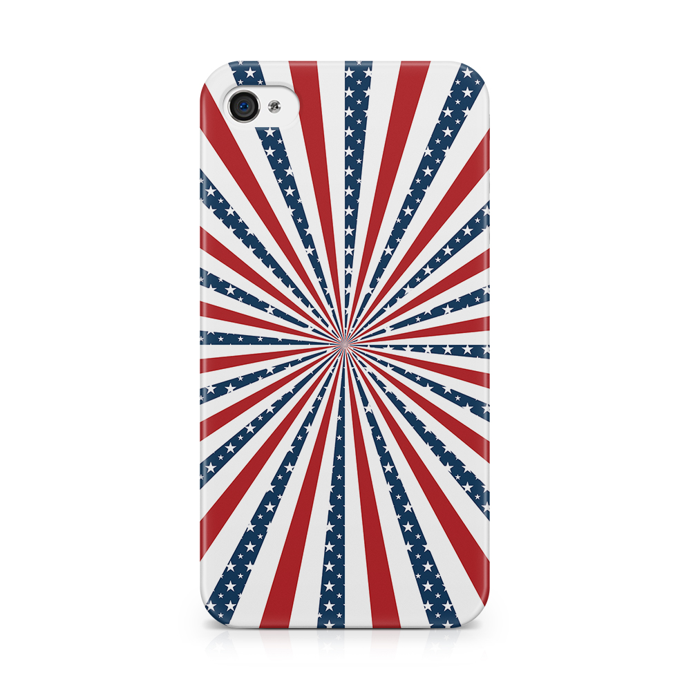 Skal till Apple iPhone 4S - USA Stripes