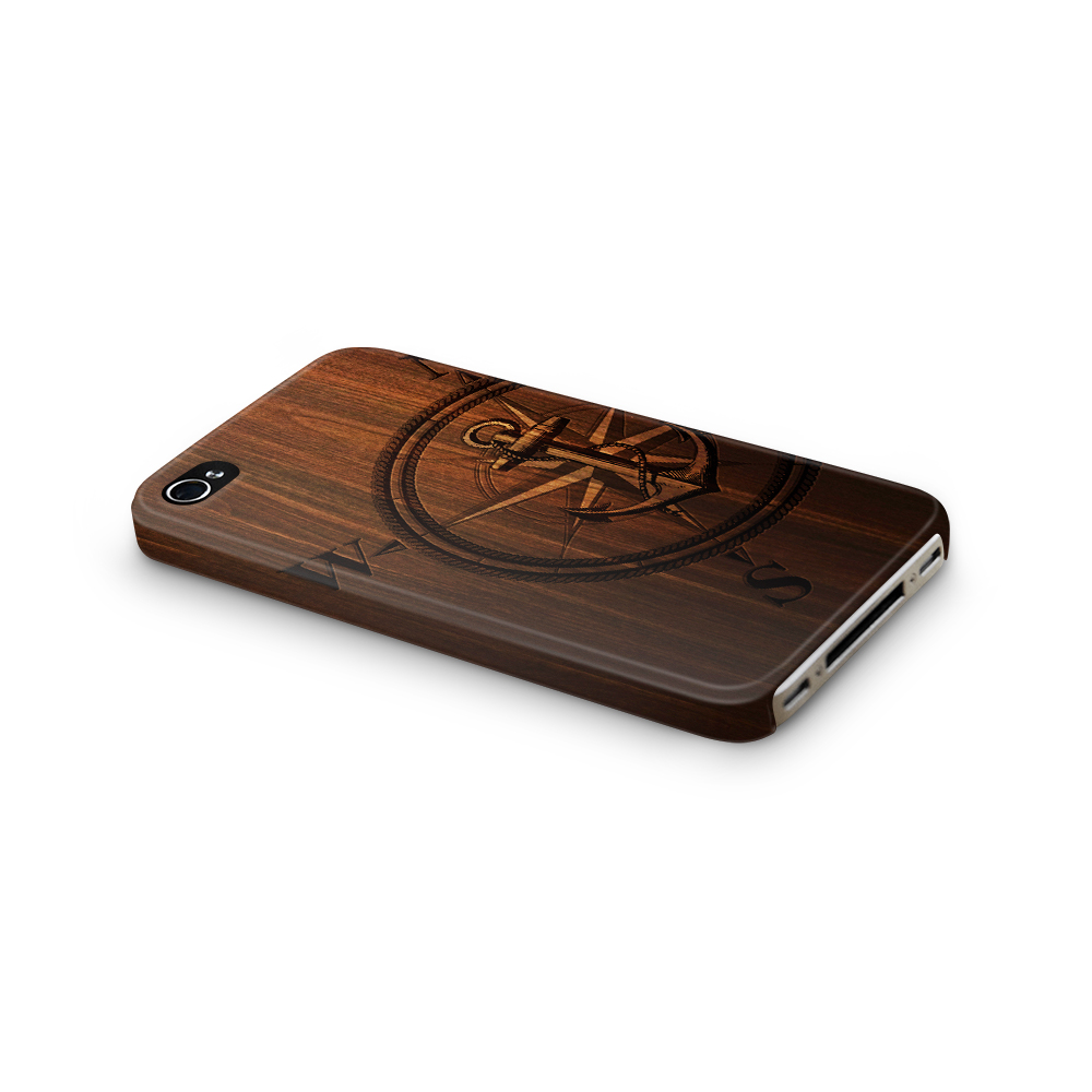 Skal till Apple iPhone 4S - Wooden Anchor B