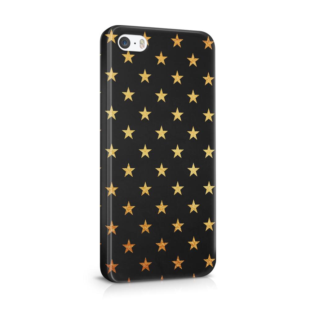 Skal till Apple iPhone SE/5S/5 - Stjärnor - Guld/Svart