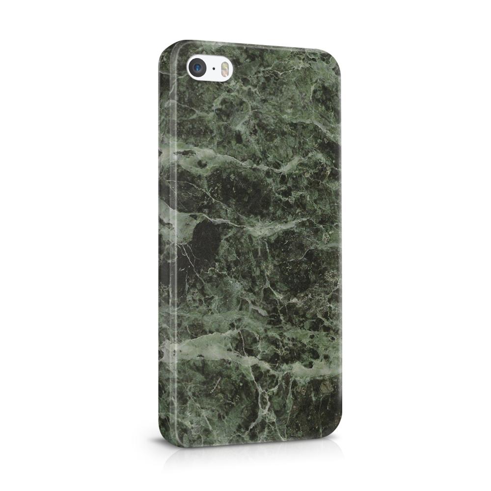 Skal till Apple iPhone SE/5S/5 - Marble - Grön/Svart