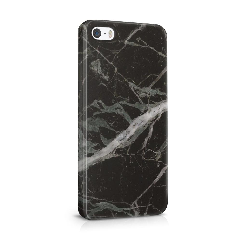 Skal till Apple iPhone SE/5S/5 - Marble - Svart