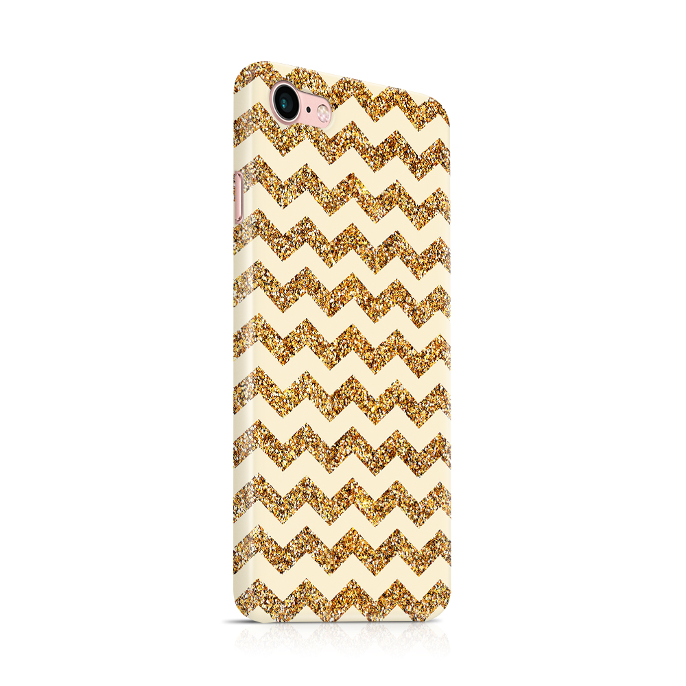 Skal till Apple iPhone 7/8 - Ränder - Guld/Beige