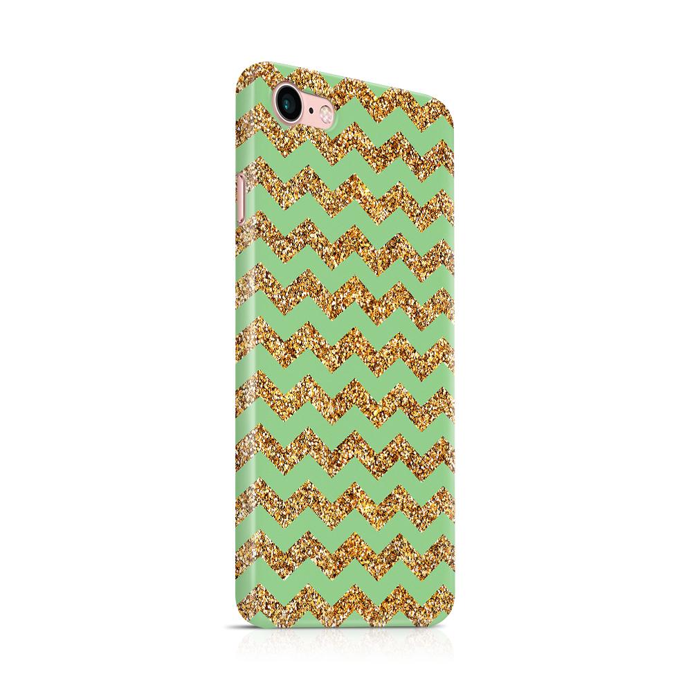 Skal till Apple iPhone 7/8 - Ränder - Guld/Grön