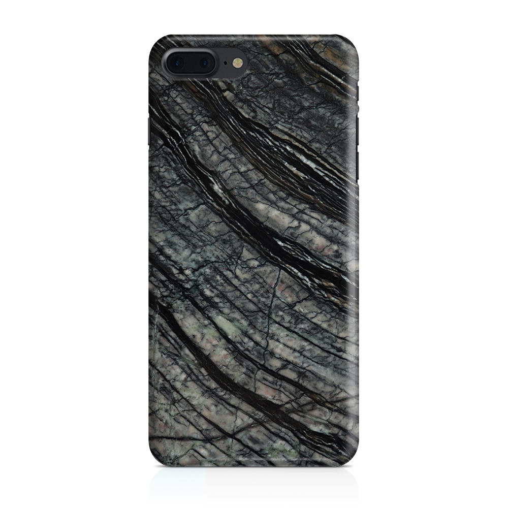 Skal till Apple iPhone 7/8 Plus - Marble - Svart/Grå