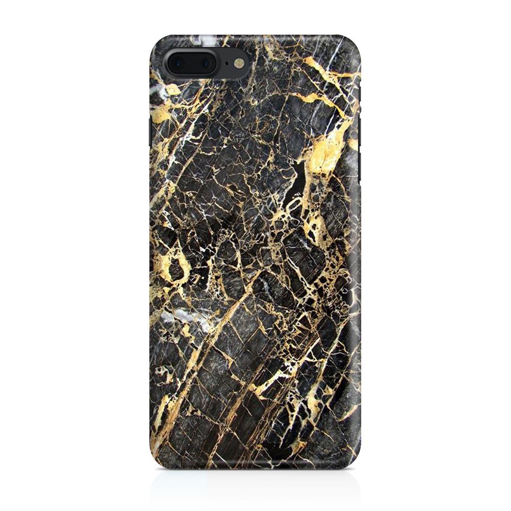 Skal till Apple iPhone 7/8 Plus - Marble - Svart/Gul