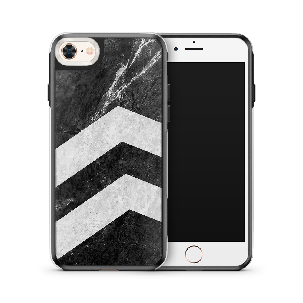 Fashion mobilskal till Apple iPhone 7 - Marble arrows up