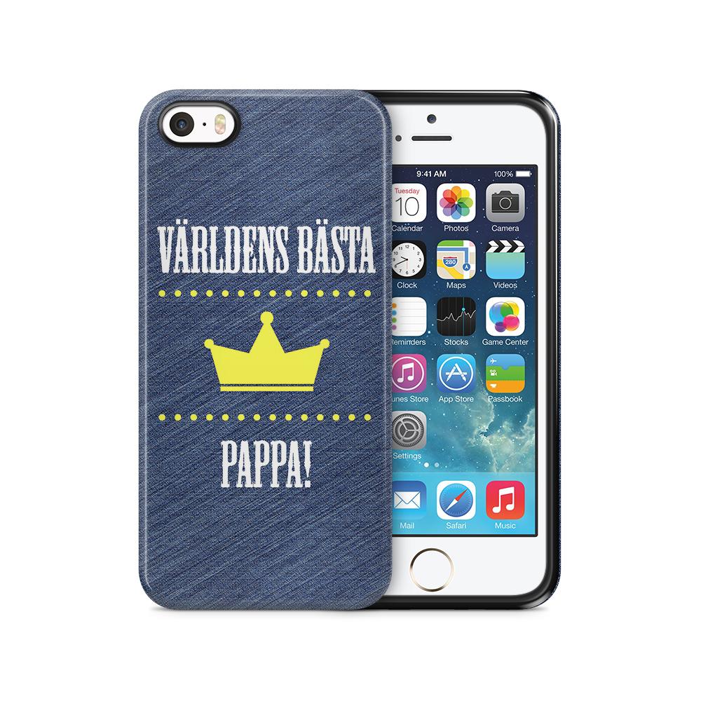 Tough mobilSkal till Apple iPhone SE/5S/5 - Världens bästa pappa
