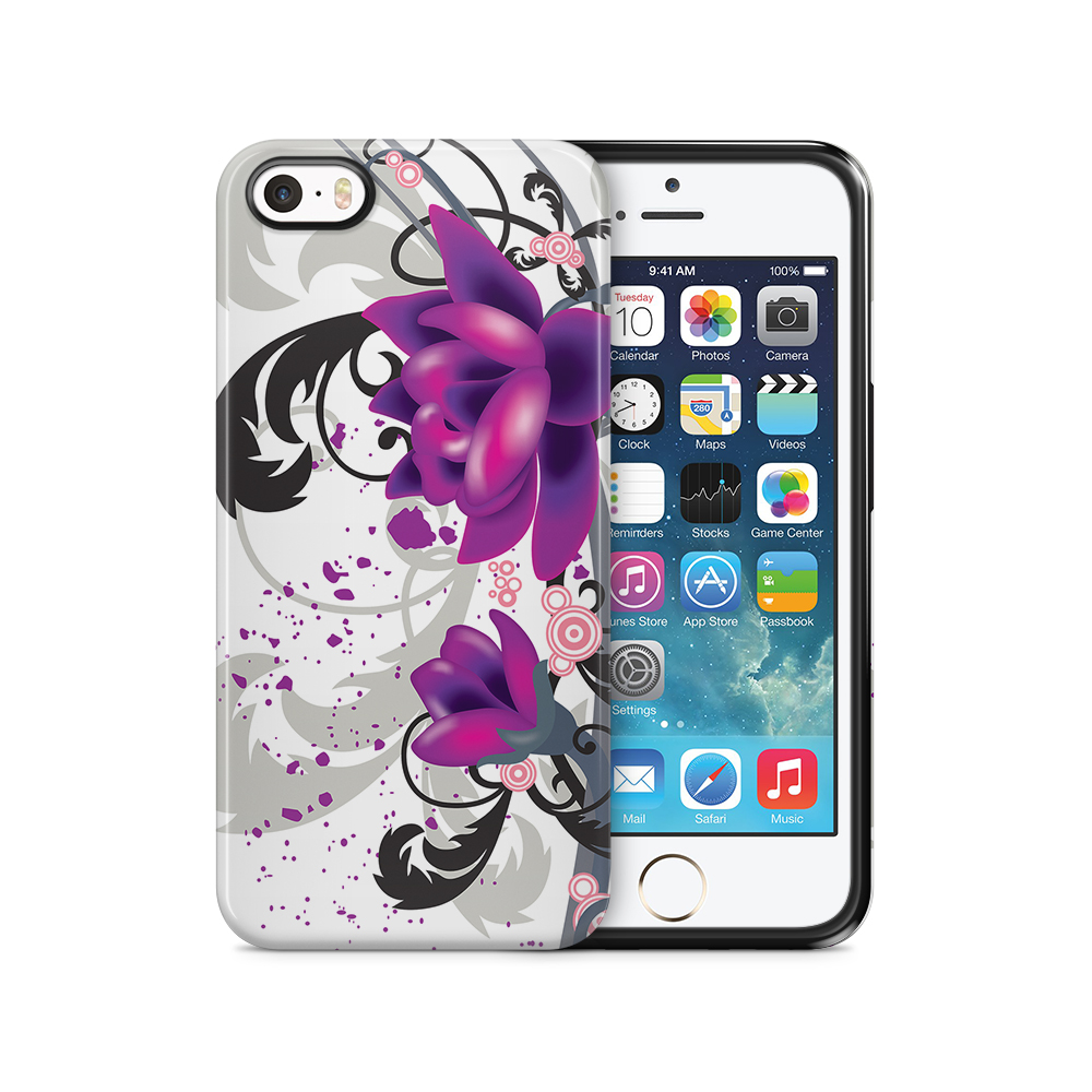 Tough mobilSkal till Apple iPhone SE/5S/5 - Red Flowers