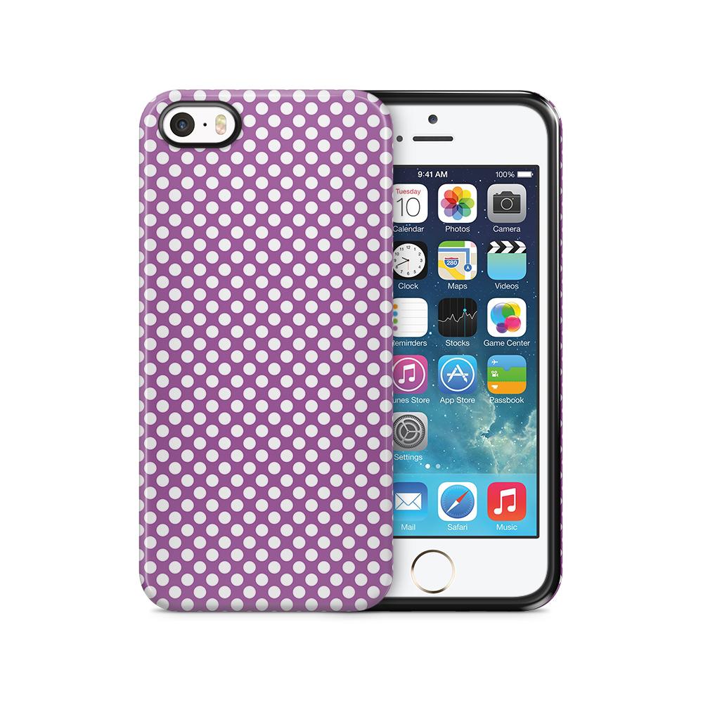 Tough mobilSkal till Apple iPhone SE/5S/5 - PolkaDots