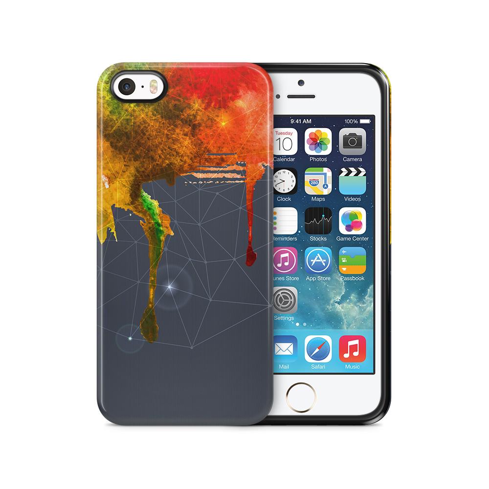 Tough mobilSkal till Apple iPhone SE/5S/5 - Rinnande färg - Spektrum