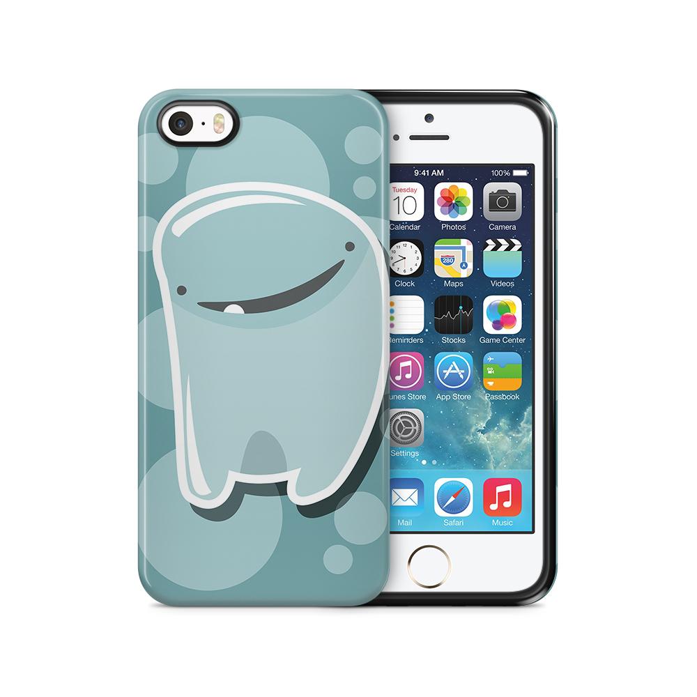 Tough mobilSkal till Apple iPhone SE/5S/5 - Bubbelmonster - Blå