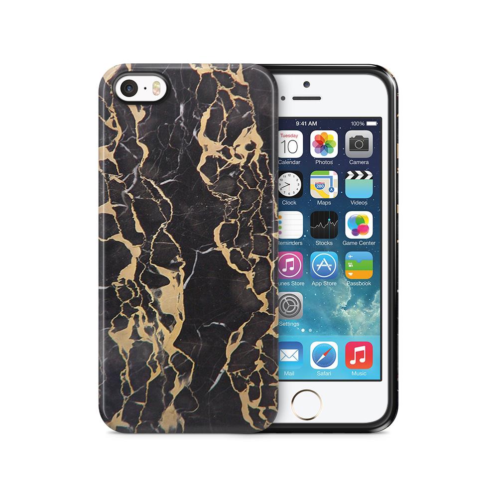 Mobilskal   iPhone 5/5s/se   Tough   Marble - Svart
