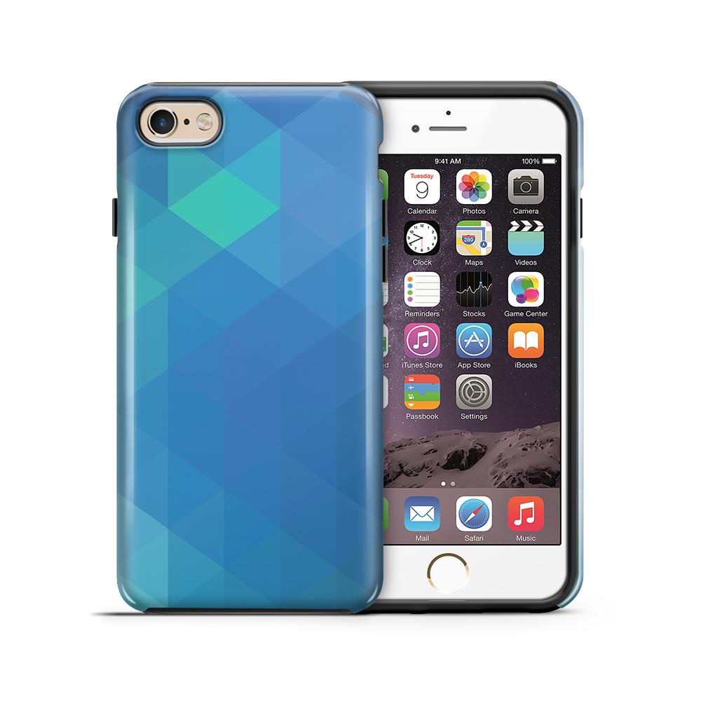 Tough mobilskal till Apple iPhone 6(S) Plus - Polygon - Blå
