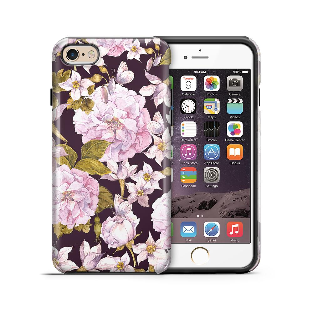 Tough mobilskal till Apple iPhone 6(S) Plus - Hortensia - Svart