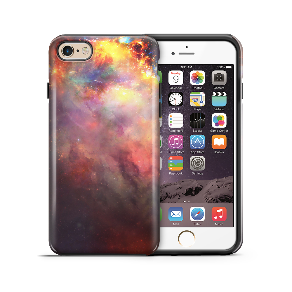 Tough mobilskal till Apple iPhone 6(S) Plus - Rymden - Svart