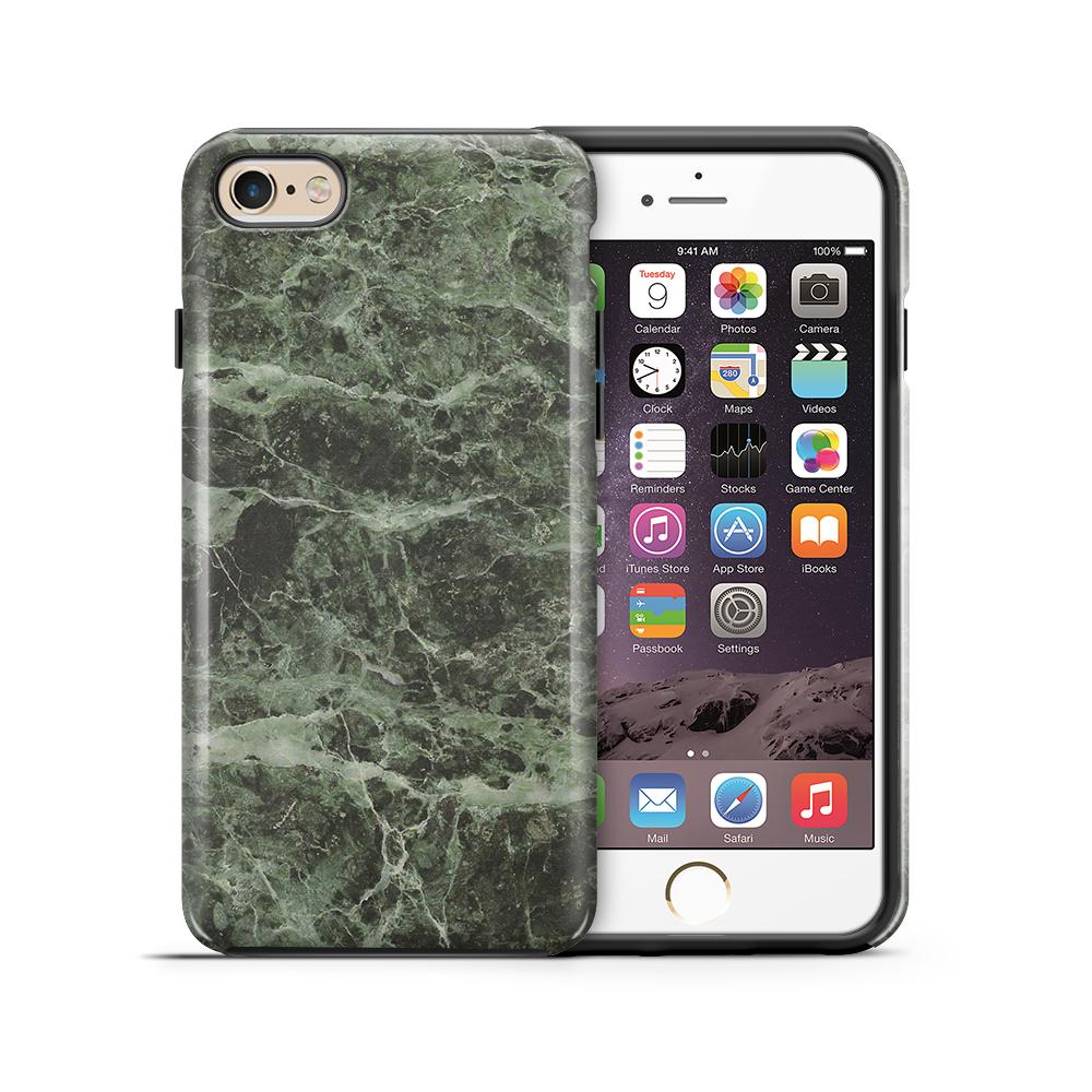 Tough mobilskal till Apple iPhone 6(S) Plus - Marble - Grön/Svart