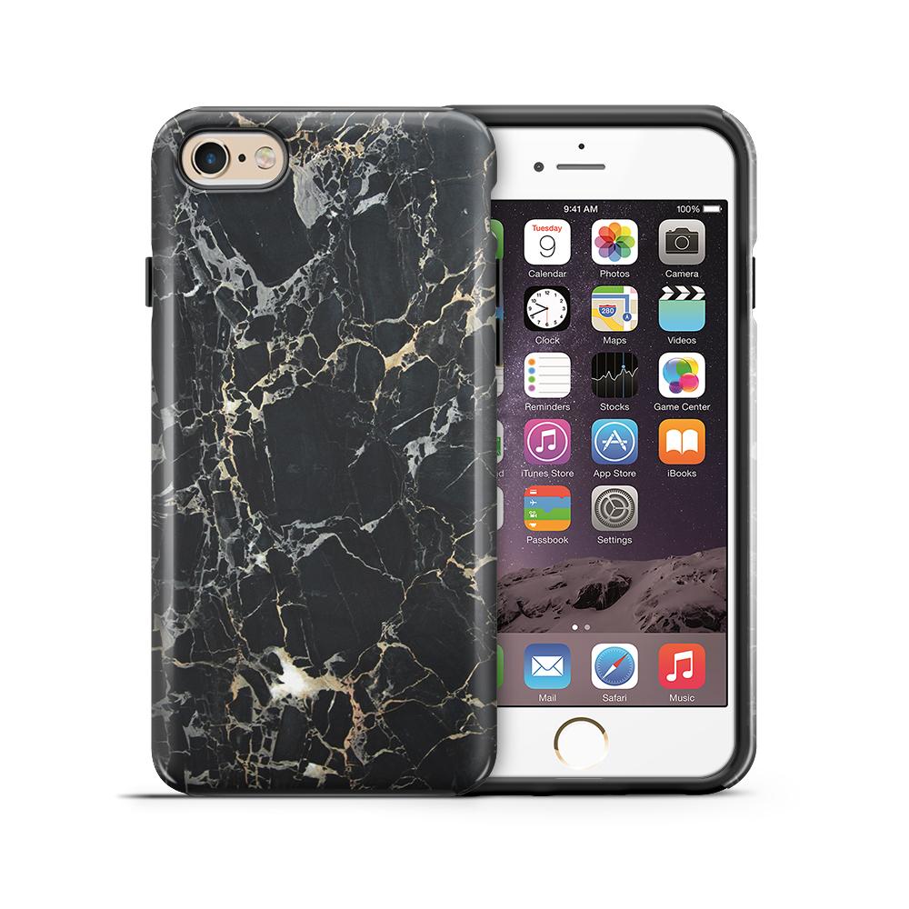 Tough mobilskal till Apple iPhone 6(S) Plus - Marble - Svart