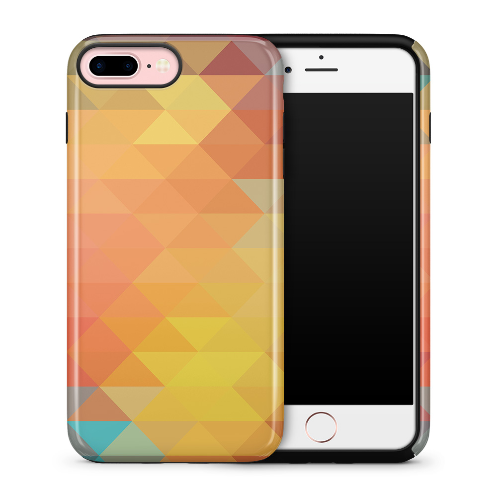 Tough mobilskal till Apple iPhone 7 Plus - Polygon - Gul