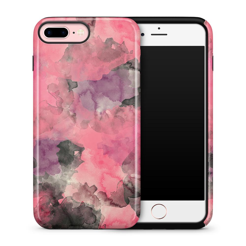 Tough mobilskal till Apple iPhone 7 Plus - Vattenfärg - Svart/Rosa