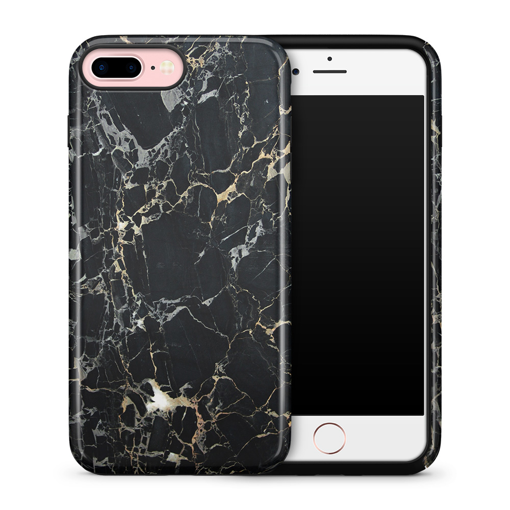 Tough mobilskal till Apple iPhone 7 Plus - Marble - Svart